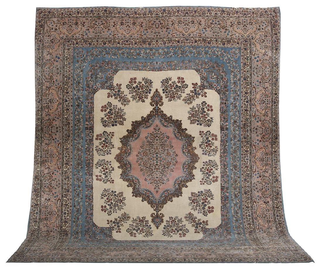 Semi-Antique Persian Kerman Carpet