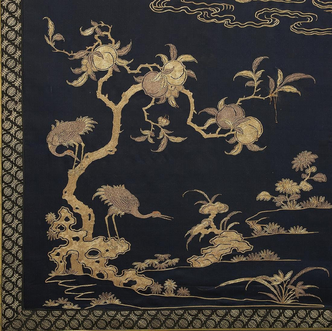 Large Chinese Embroidered Wall Panel - 3