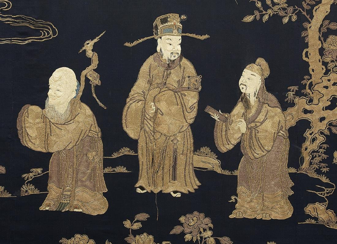 Large Chinese Embroidered Wall Panel - 4