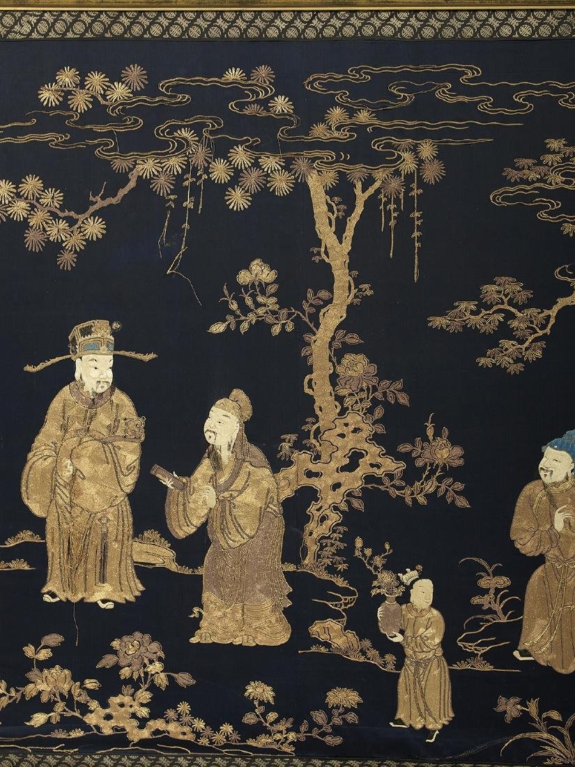 Large Chinese Embroidered Wall Panel - 5