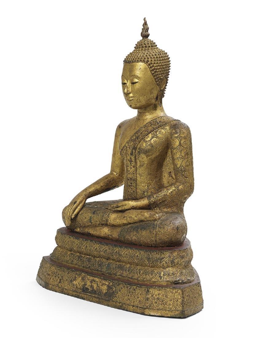 Thai Bronze Figure of Buddha Maravijaya - 2