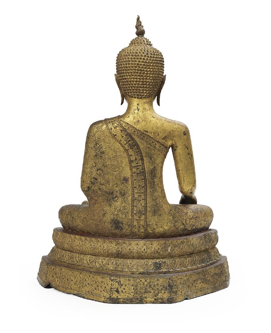 Thai Bronze Figure of Buddha Maravijaya - 3