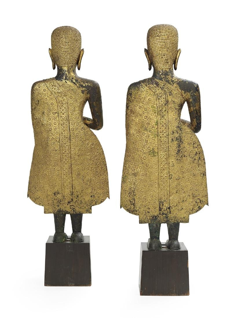 Pair of Thai Bronze Figures of Buddha Shakyamuni - 2