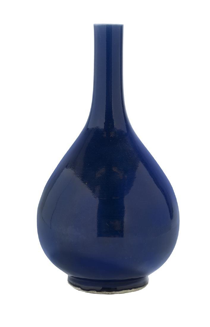 Chinese Powder-Blue Glaze Porcelain Bottle Vase