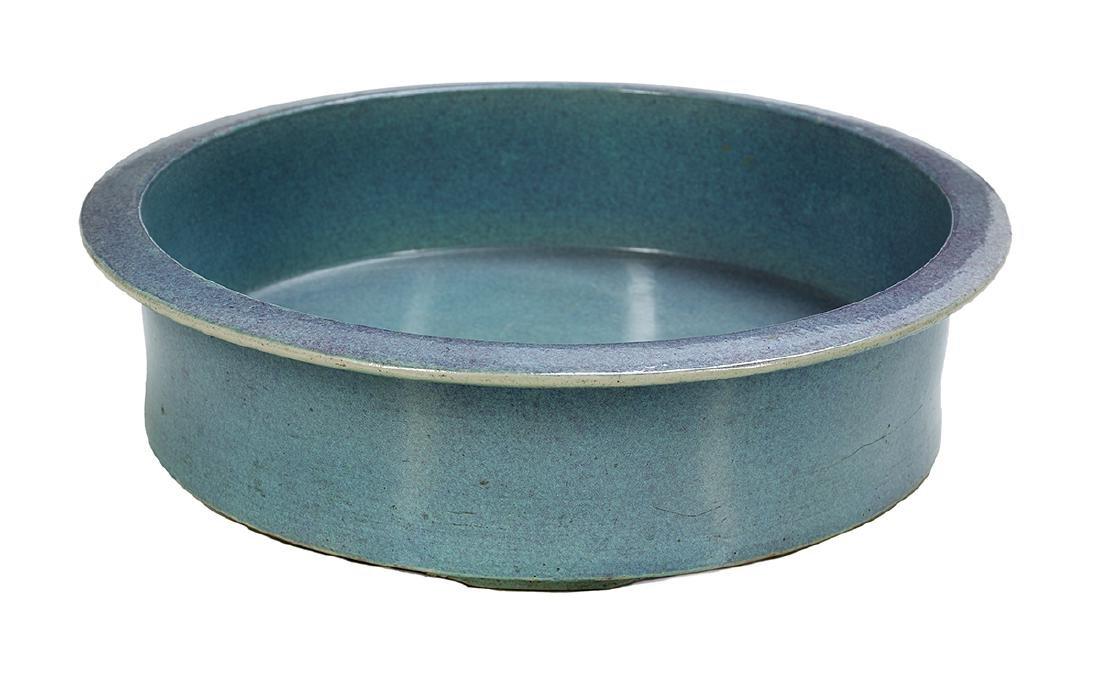 Chinese Clair-de-Lune Glaze Porcelain Basin