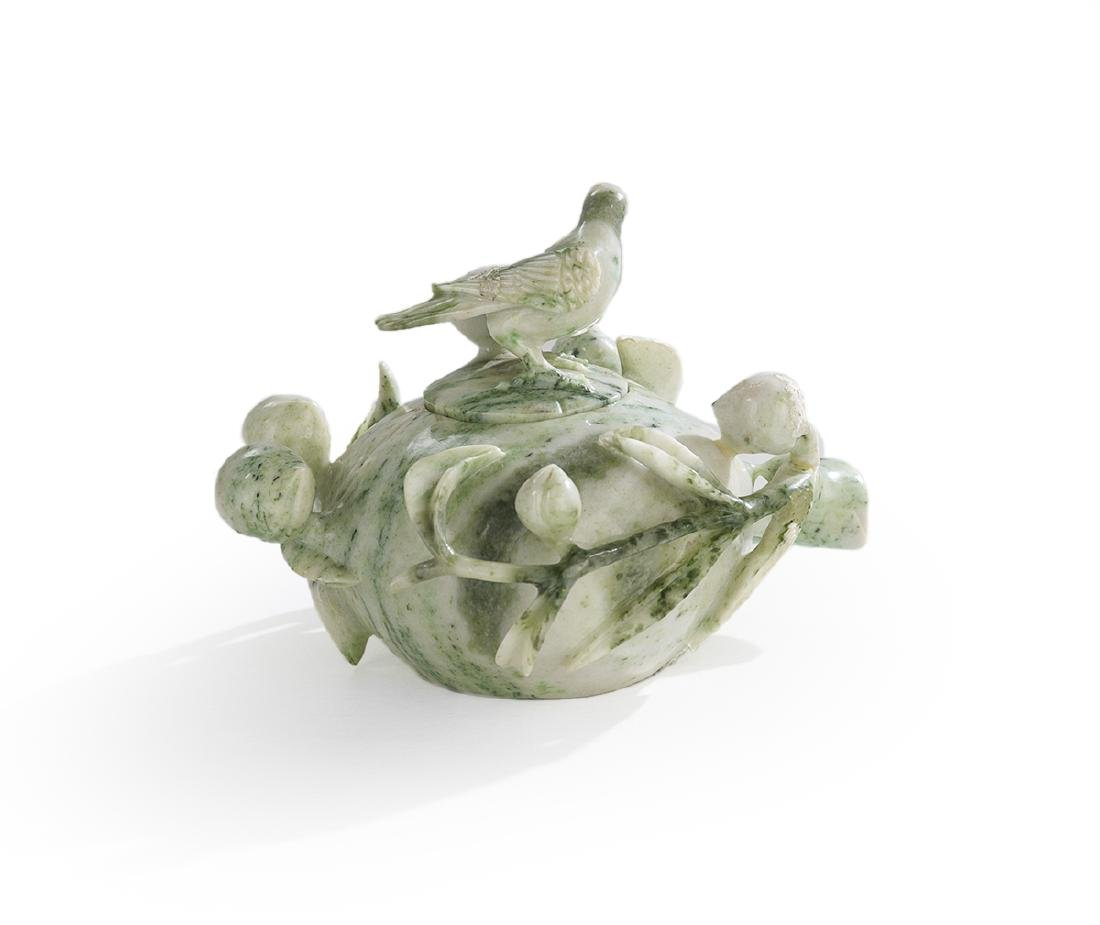 Chinese Carved Jade Box - 2