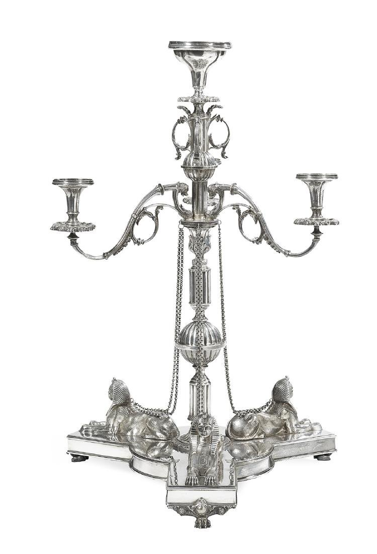 Victorian Silverplate Egyptian Revival Epergne