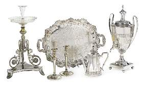 Six Pieces of  Silverplate Tableware