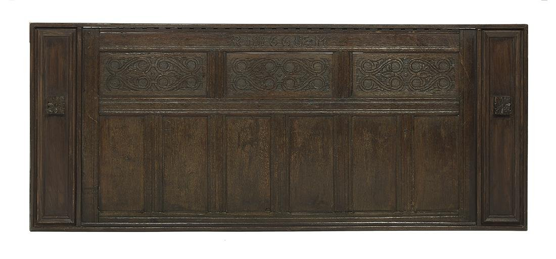 English Middle Ages and Later Carved Oak Panel