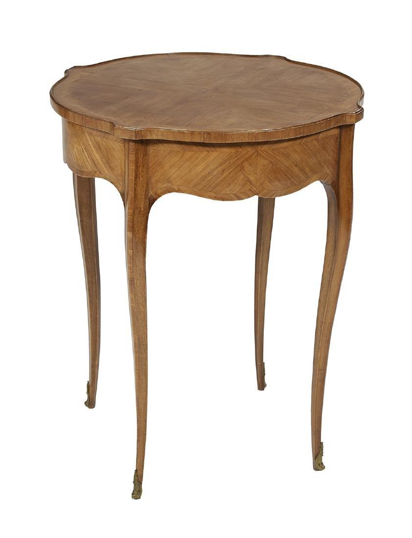 Louis XV-Style Mahogany Side Table
