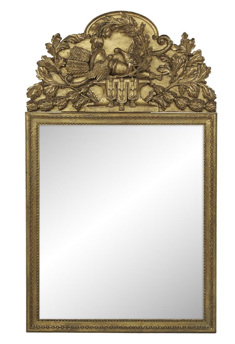 French Neoclassical-Style Giltwood Mirror