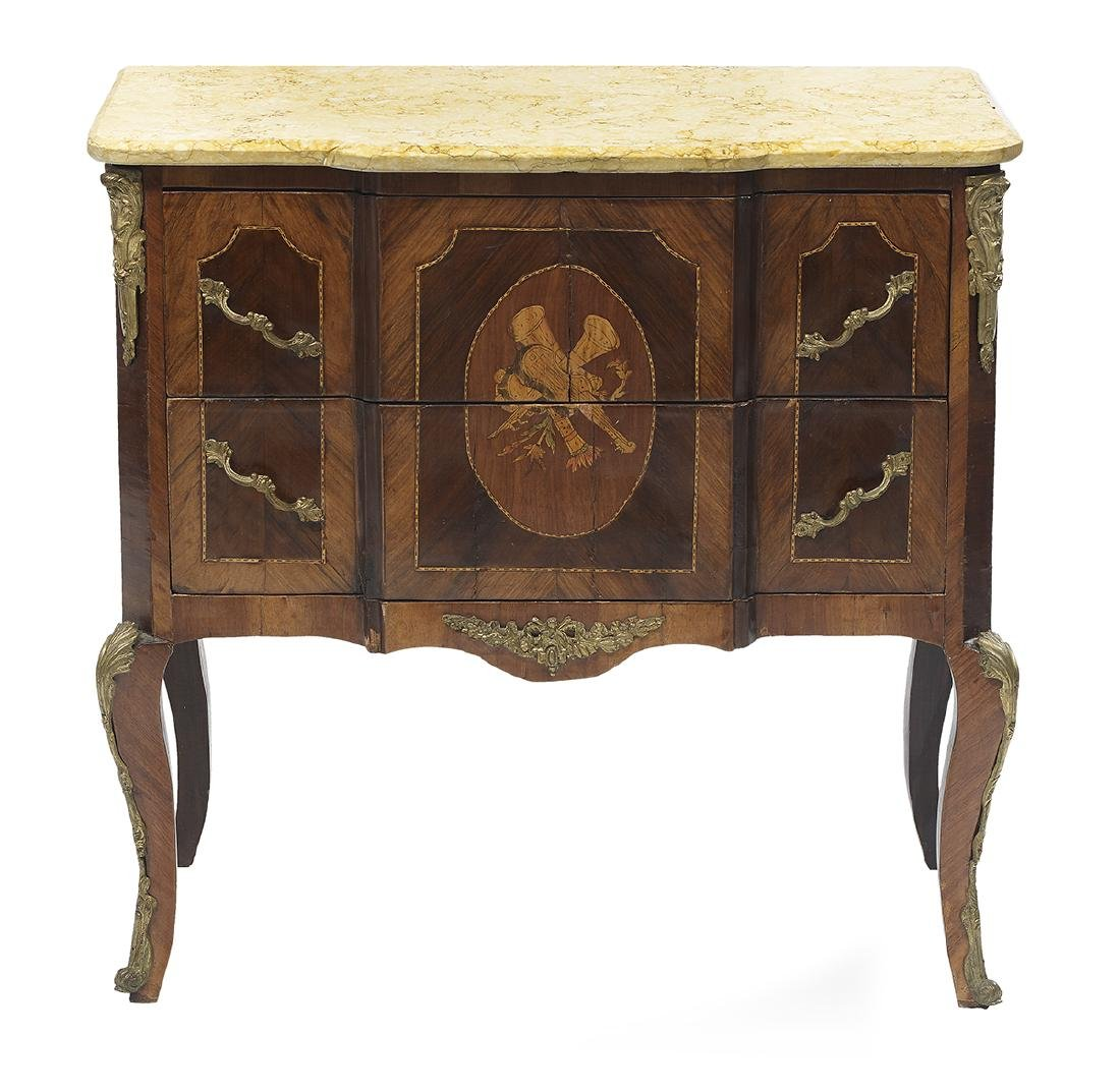 Louis XV/XVI-Style Marble-Top Commode