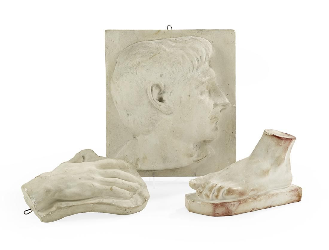 Collection of Three Plaster Artists' Model Casts