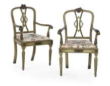 Pair of Continental Neoclassical Fauteuils