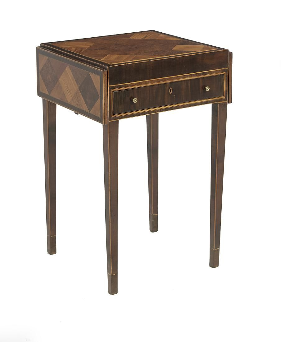 Continental Mahogany and Exotic Woods Games Table