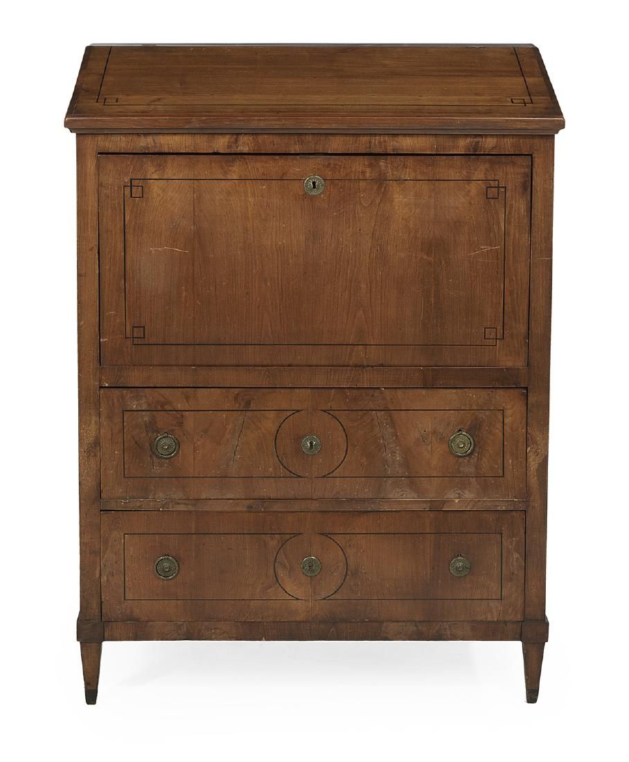 Continental Fruitwood Secretaire a Abattant