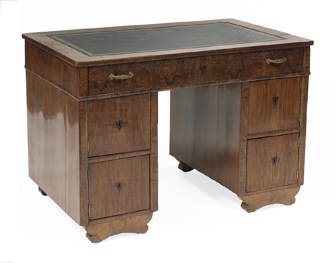 Continental Circassian Walnut Kneehole Desk