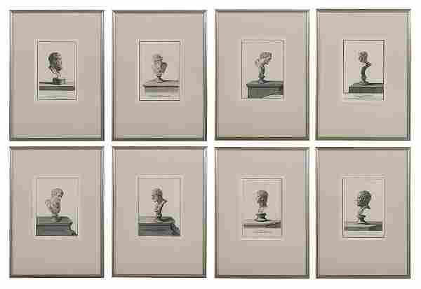"8 Etchings from ""Raccolta di Pitture d'Ercolano"""