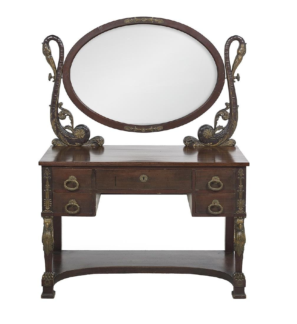 Empire-Style Ormolu-Mounted Dressing Table