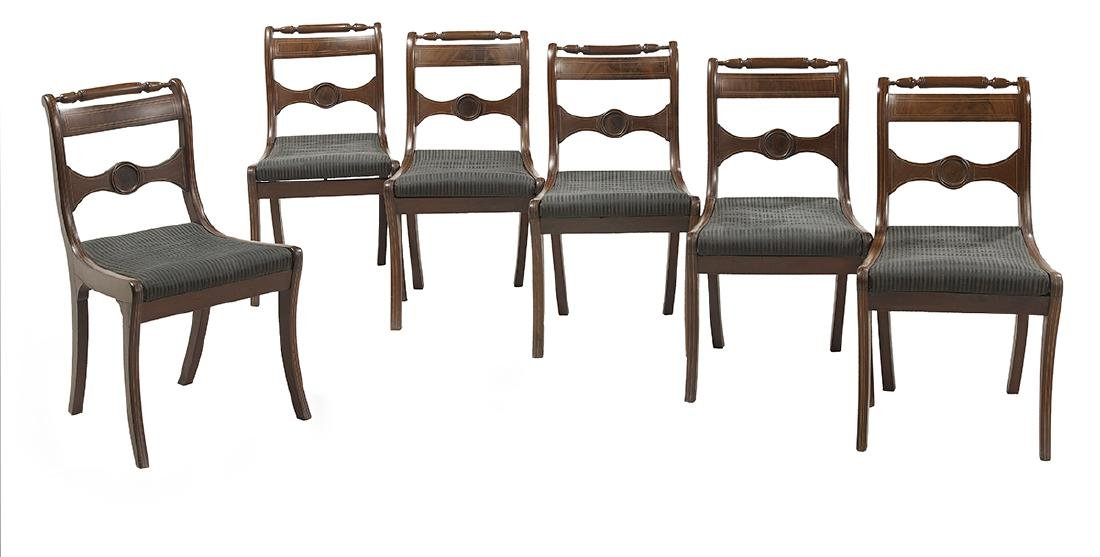 Suite of Six Regency-Style Mahogany Side Chairs