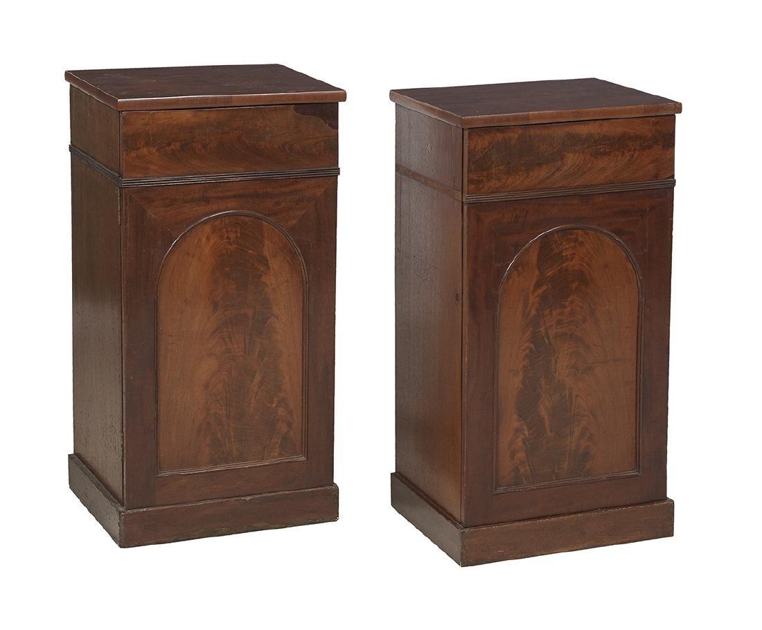 Pair of Late Regency Mahogany Pedestal Cabinets