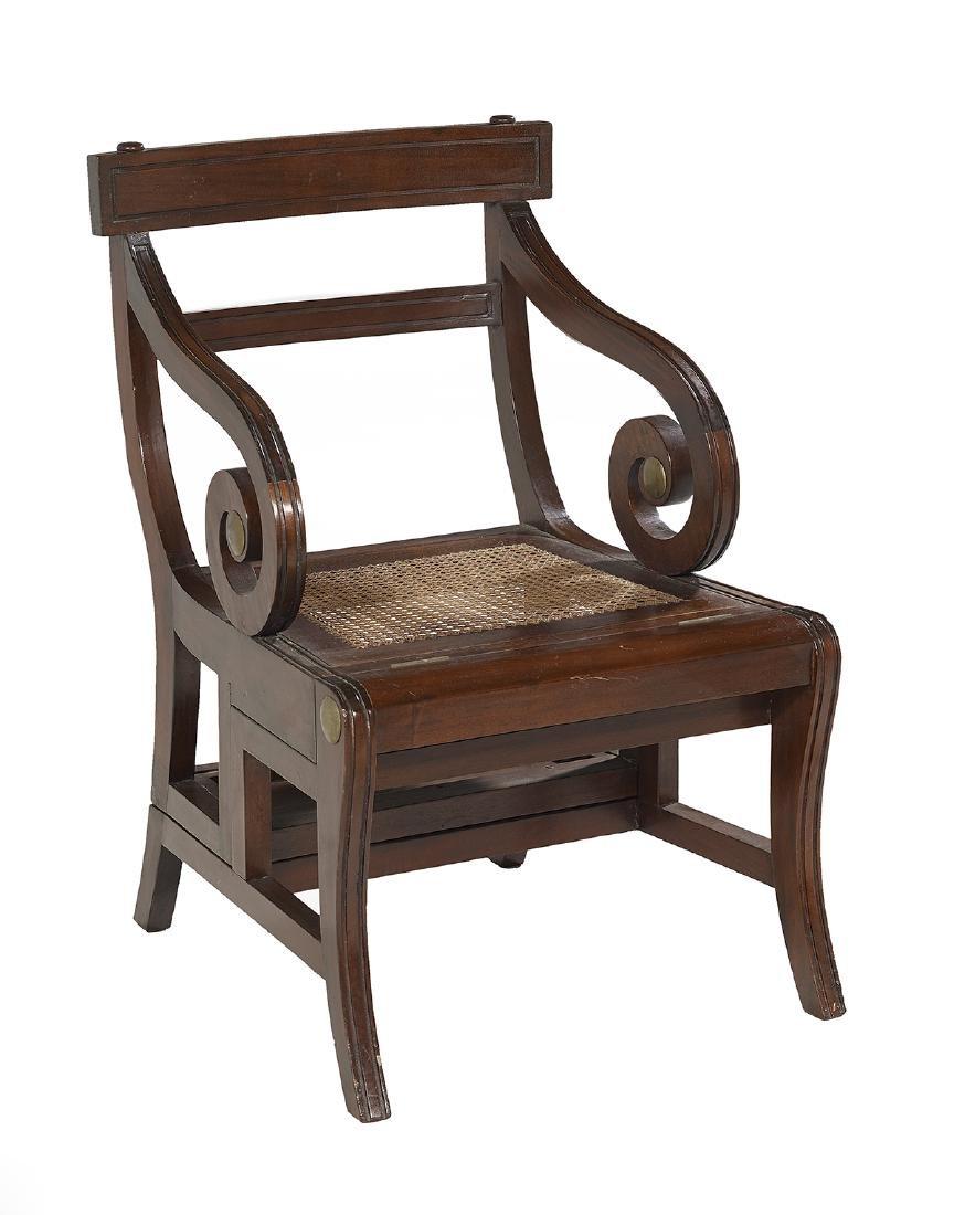 Regency-Style Mahogany Metamorphic Library Chair - 2