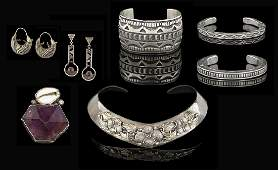 Seven-Piece Group of Sterling Silver Jewelry