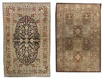 Two SemiAntique Qum Carpets