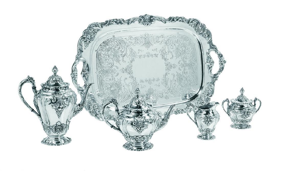 "Reed & Barton ""Renaissance"" Silverplate Tea Set"