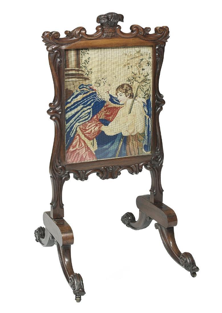 Victorian Rosewood Firescreen
