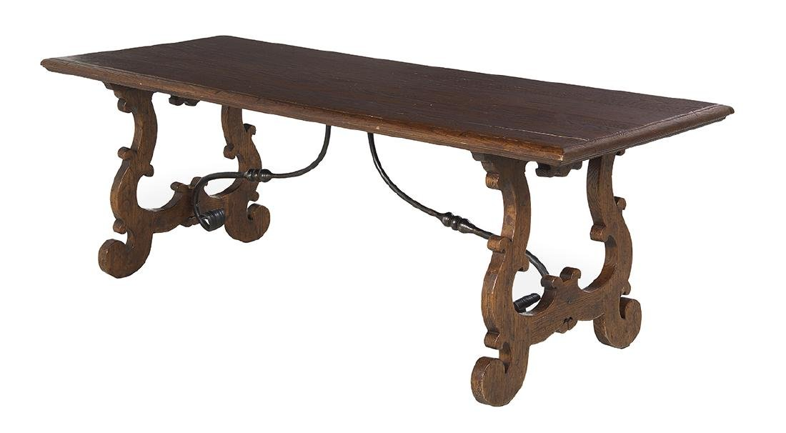 Spanish Oak and Iron Guardroom Table - 2
