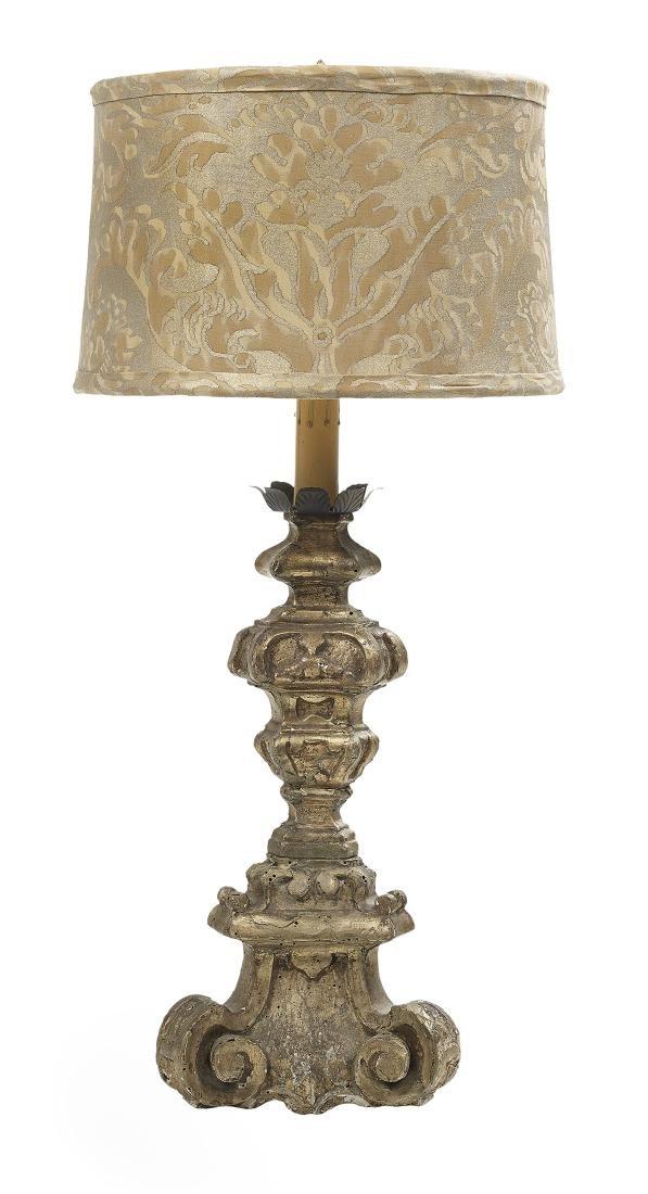 Italian Baroque Giltwood Altar Stick