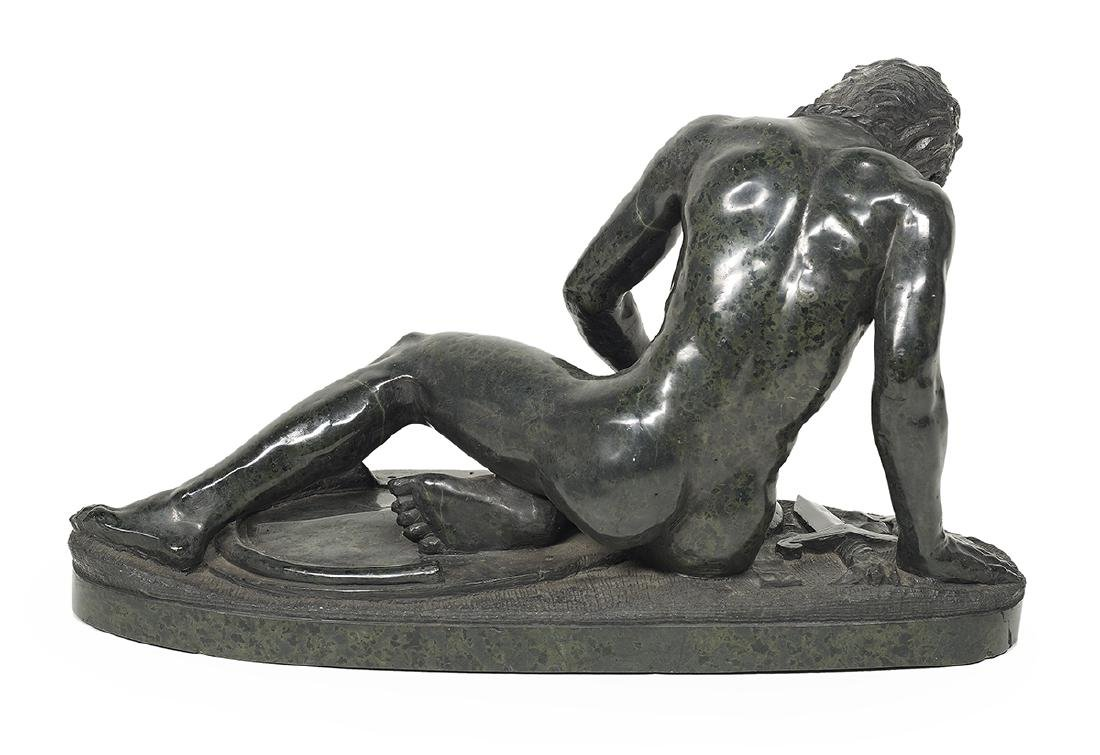 """Italian Carved Black Marble of """"The Dying Gaul"""" - 2"""