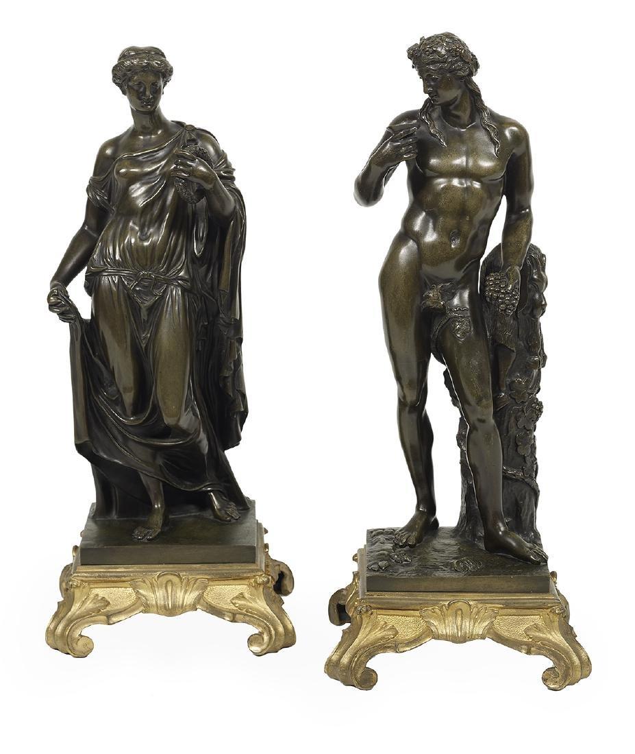 Pair of Italian Bronzes of Classical Figures