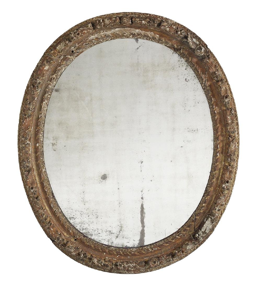 Early Neoclassical-Style Painted Wooden Mirror