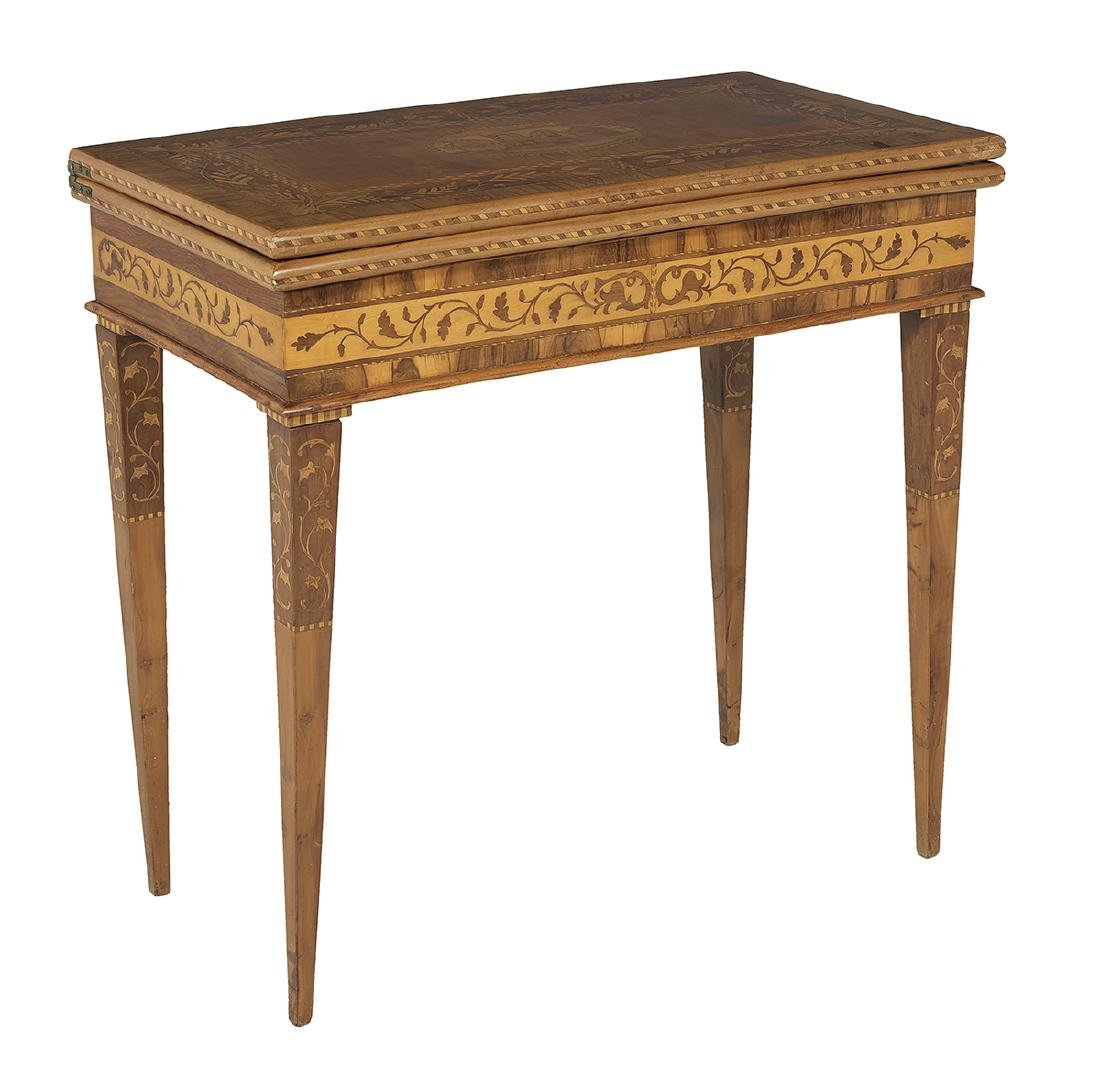 Italian Neoclassical Fruitwood Games Table - 2
