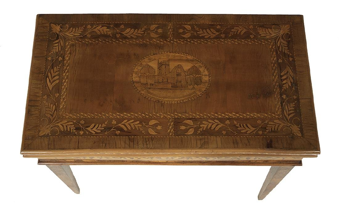 Italian Neoclassical Fruitwood Games Table - 4