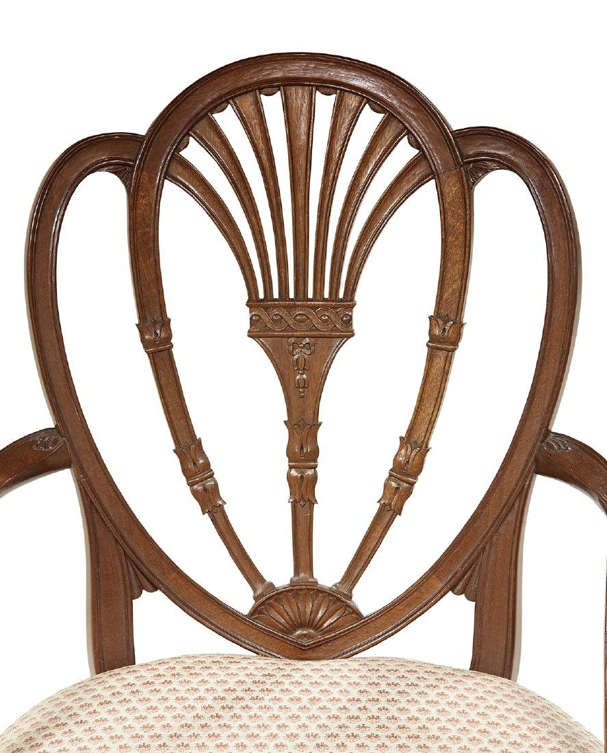 Eight George III-Style Mahogany Dining Chairs - 3