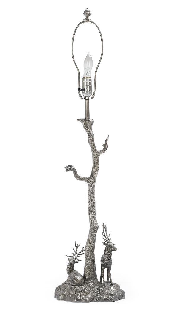 Continental Silverplate Lamp