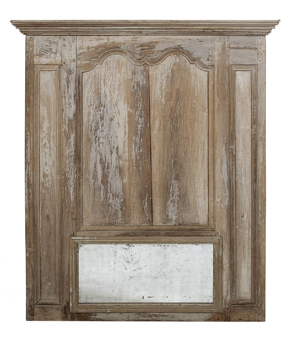 French Painted Architectural Trumeau Mirror