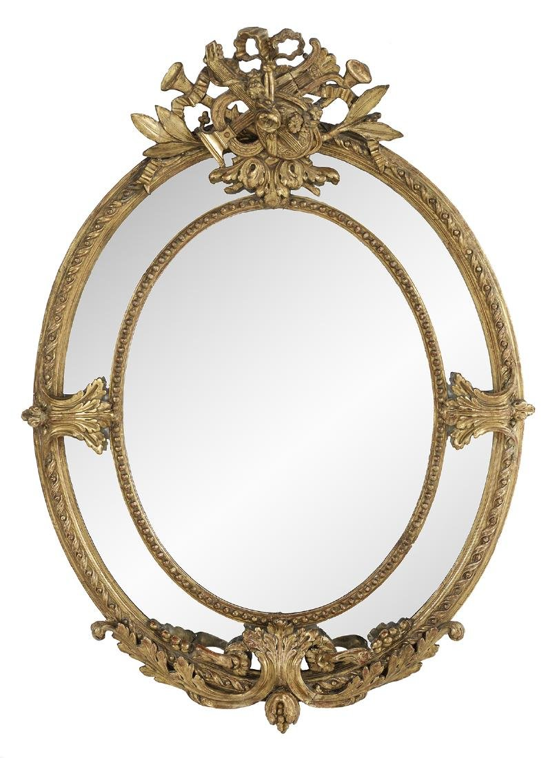 French Giltwood Mirror in the Louis XV Taste