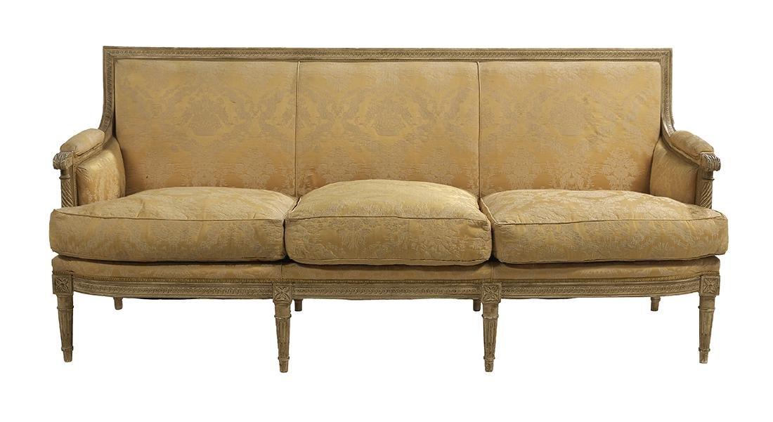 Louis XVI-Style Polychromed Sofa