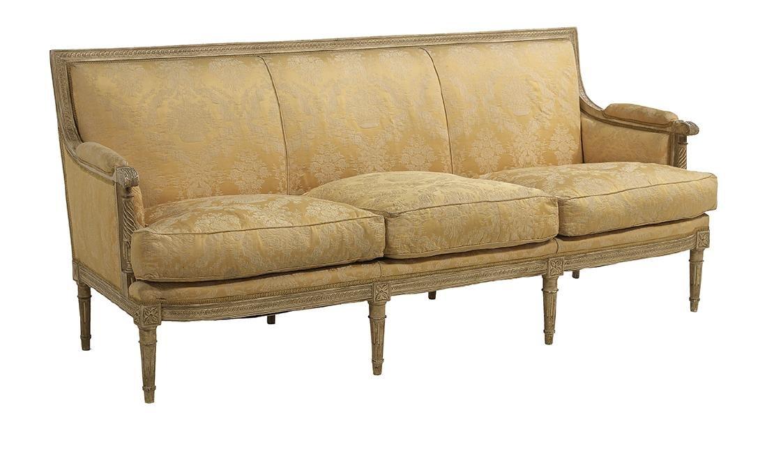 Louis XVI-Style Polychromed Sofa - 2