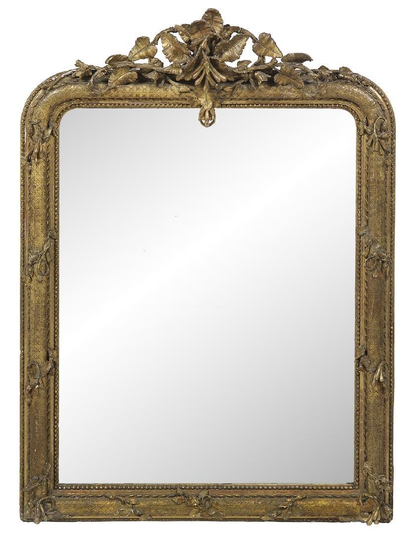 Unusual Louis-Philippe Giltwood Mirror