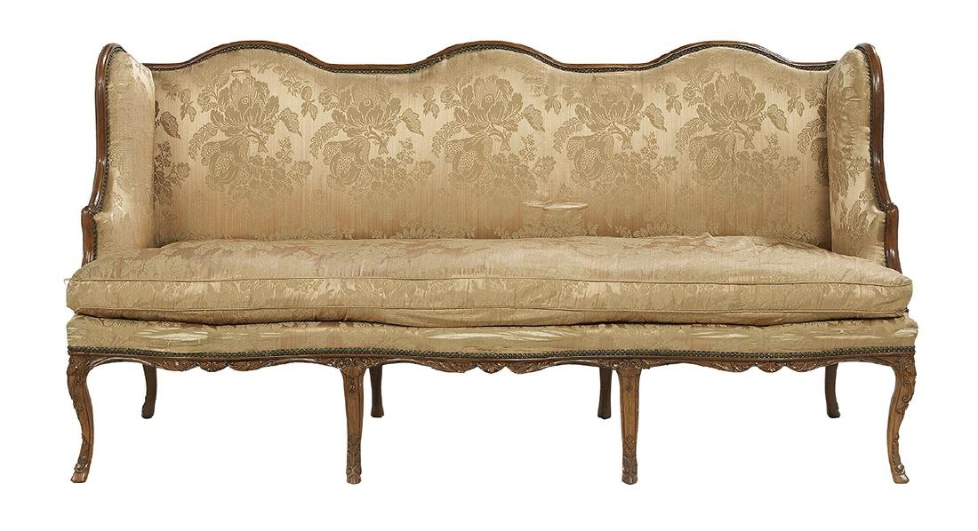 French Provincial Carved Mahogany Canape