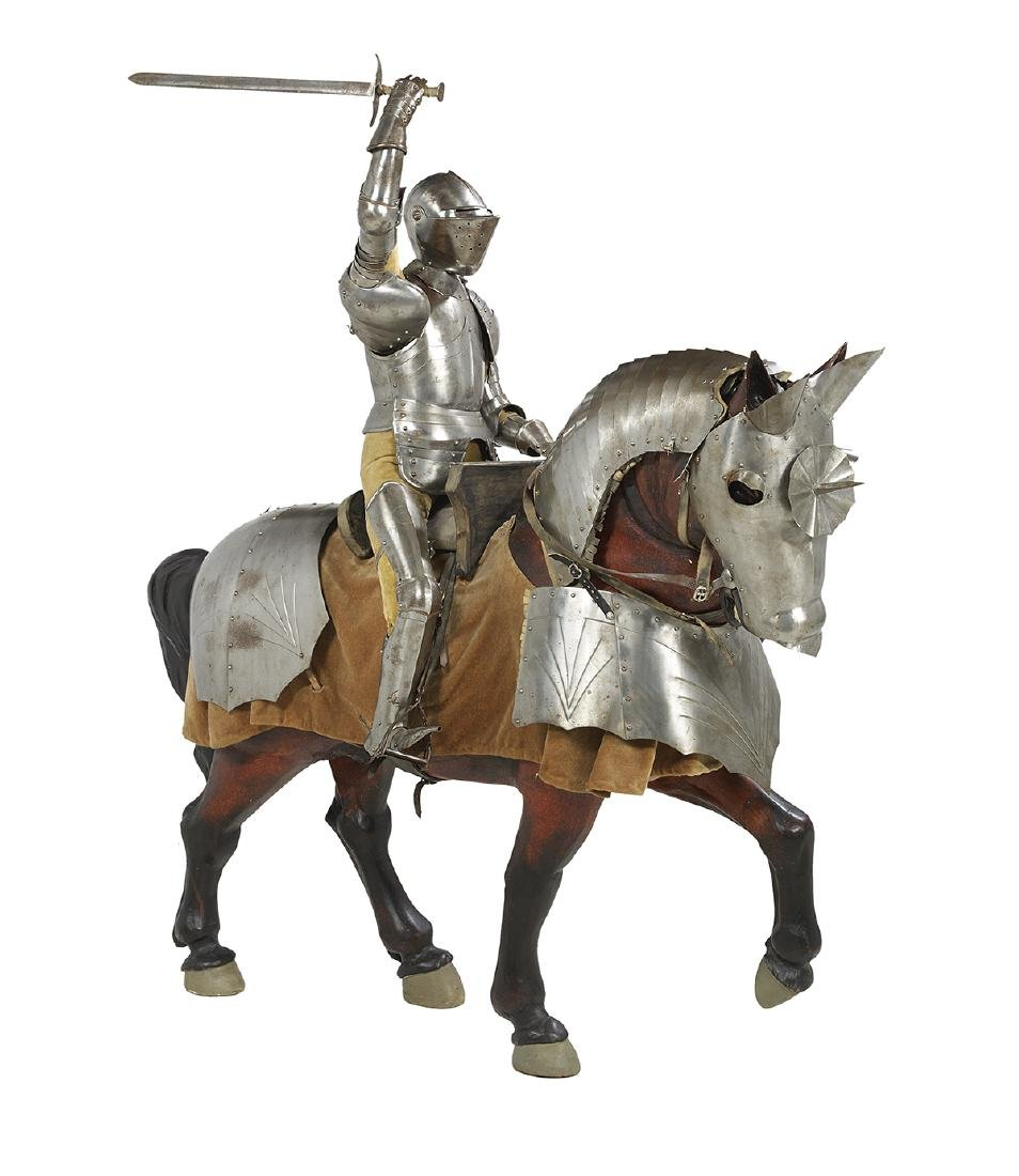 Large Scale Model of a Knight on Horseback