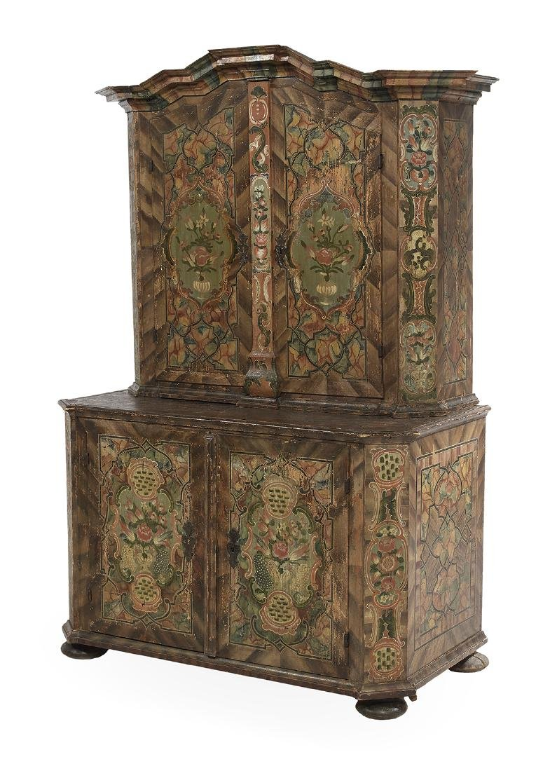 Continental Polychrome Two-Part Cabinet - 2
