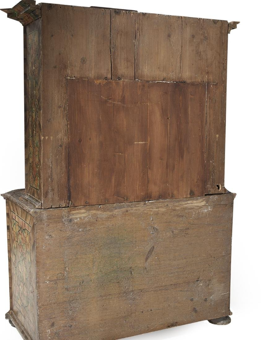 Continental Polychrome Two-Part Cabinet - 3