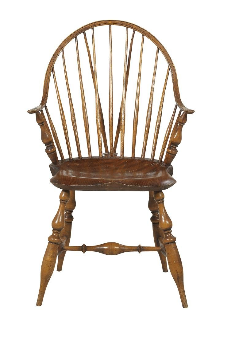 Six Windsor-Style Pine and Oak Armchairs - 2