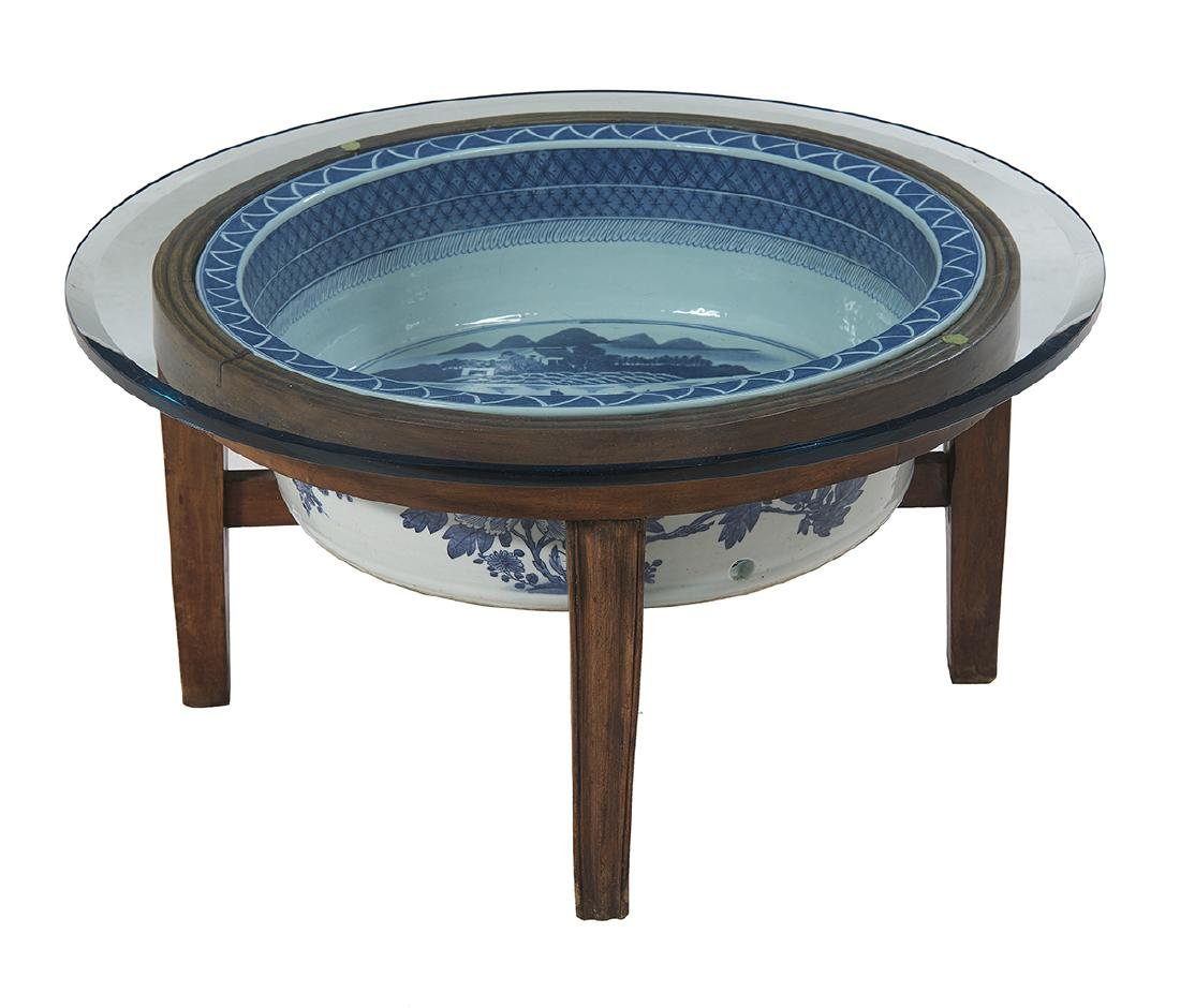Chinese Export Blue and White Basin/Table